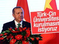 Cumhurbaşkanı Erdoğan'ın Çin konuşması