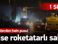 Polise roketatarlı saldırı: 1 şehit, 3 yaralı