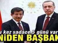 Erdoğan, Davutoğlu'nu başbakan olarak atadı