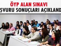 ÖYP alan sınavı başvuru sonuçları açıklandı