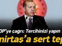 Erdoğan'dan Demirtaş'a Sert Tepki