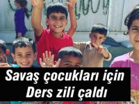 Savaş çocukları için ders zili çaldı