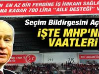 MHP seçim beyannamesi bomba seçim vaadi