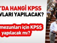 2016'da hangi KPSS sınavları yapılacak?