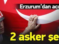 Erzurum'dan kara haber! 2 asker şehit oldu