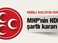 MHP kiminle koalisyon yapacak işte 4 şartı