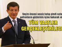 Davutoğlu seçim vaatleri hakkında konuştu