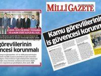 Ali Yalçın: Kamu Görevlilerinin İş Güvencesi Korunmalı