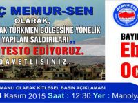 Genç Memur-Sen'den 81 İl'de Bayırbucak Türkmenleri'ne Destek Protestosu