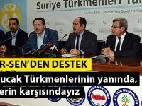 Memur-Sen'den Bayırbucak Türkmenleri'ne Destek