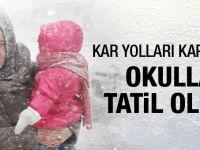 Okullar tatil mi valiliğin kar tatili kararı