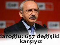 Kılıçdaroğlu'ndan 657 değişikliğine tepki