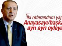 Erdoğan'dan başkanlık sistemi teklifi