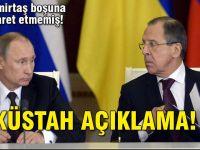 Rusya'dan 'küstah' açıklama