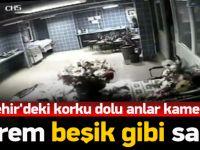 Kırşehir'deki deprem anı kamerada