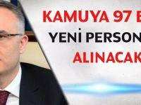 Ağbal: Kamuya 97 bin yeni personel alınacak