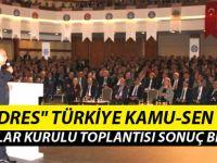 Tek Adres Türkiye Kamu-Sen Sonuç Bildirgesi