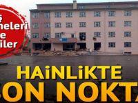 PKK'lılar okulu yıkmaya çalıştı