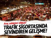 Zorunlu trafik sigortasında yeni gelişme