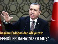 Erdoğan AB ve BM'ye rest çekti