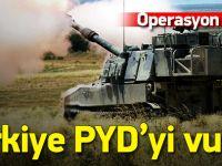 Türkiye PYD'yi vurdu