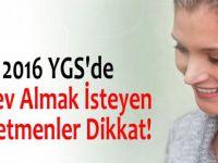 2016 YGS'de Görev Almak İsteyen Öğretmenler Dikkat!