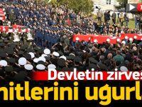 Ankara şehitleri uğurladı