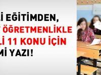 MEB'den 11 maddelik aday öğretmenlik yazısı