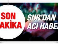 Diyarbakır Sur'dan son haberler şehit var