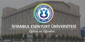 Esenyurt Üniversitesi Öğretim Üyesi alım ilanı