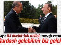 Aliyev'den Cumhurbaşkanı Erdoğan'a jest ziyaret