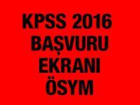 KPSS başvuru yapma ekranı 2016 ÖSYM ais