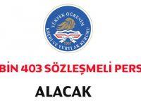 KYK Bin 403 Sözleşmeli Personel Alım İlanı