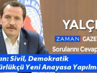 Ali Yalçın: Sivil, Demokratik ve Özgürlükçü Yeni Anayasa Yapılmalı