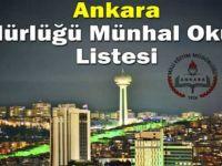 Ankara Müdürlüğü Münhal Okullar Listesi