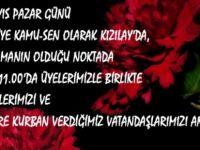 Türkiye Kamu-Sen 1 Mayıs'ta Kızılay Şehitlerini Anacak