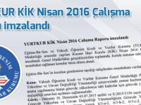 YURTKUR KİK Nisan 2016 Çalışma Raporu imzalandı