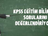 2016 KPSS Eğitim bilimleri soruları ve cevapları