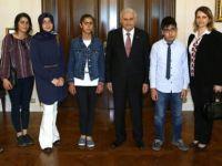 Başbakan Yıldırım, O TEOG şampiyonlarını kabul etti