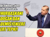 Erdoğan'dan akademisyenlere tepki