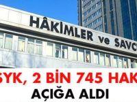 HSYK 2. Dairesi 2 bin 745 hakimi açığa aldı