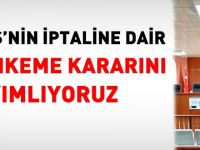 KPSS iptaline dair mahkeme kararı