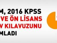 2016 KPSS Ortaöğretim/Ön Lisans Kılavuzu yayımlandı