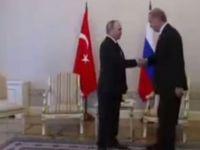 Erdoğan - Putin görüşmesinden ilk kare