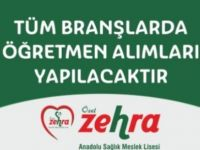 Özel Zehra Anadolu Meslek Lisesi Yönetici Asistanı ve Öğretmen Alım İlanı