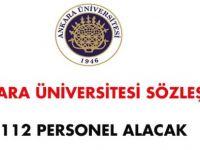 Ankara Üniversitesi Sözleşmeli Personel Alım İlanı