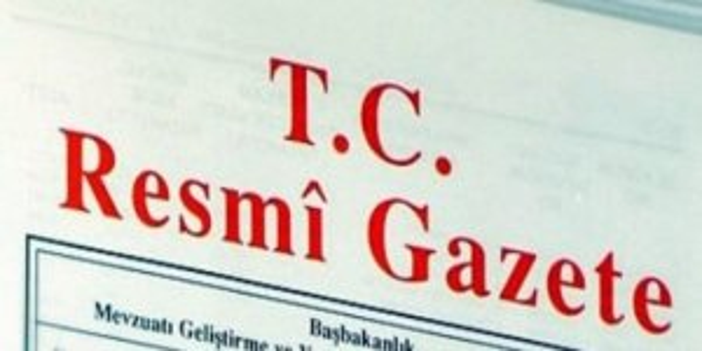 26 Eylül 2017 Tarihli ve 30192 Sayılı Resmî Gazete