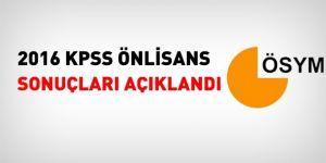 2016 KPSS önlisans sonuçları açıklandı
