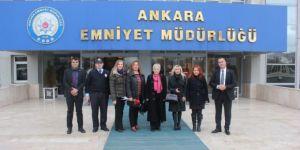 Türk Eğitim-Sen'den Ankara Emniyetine Taziye Ziyareti