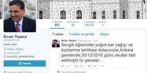 Ankara Valisi Kar Tatili Kararını Açıkladı: 30 Aralık Tatil